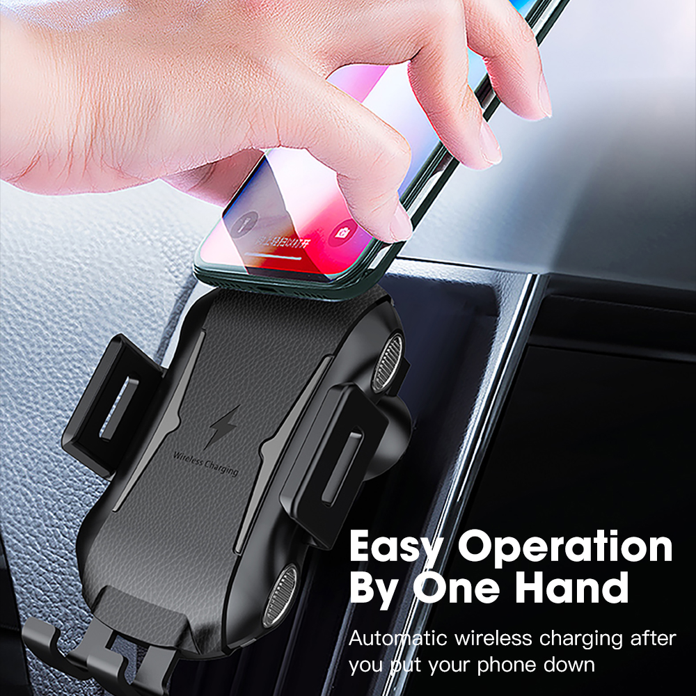 SIKAI Latest Automatic Car Phone Holder Charger Mount Wireless Car Charger фото