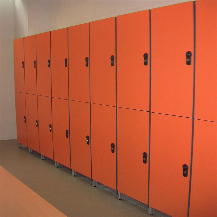 Gym School Lockers Using 12mm Solid Compact Panel HPL Material,  Good Selling Waterproof Locker Smart