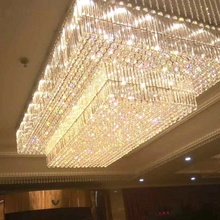 Personalizado Modern LED <span class=keywords><strong>Lustre</strong></span> K9 Grande Foyer Hotel Grande <span class=keywords><strong>Lustre</strong></span> <span class=keywords><strong>de</strong></span> <span class=keywords><strong>Cristal</strong></span>