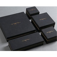 Wholesale luxury fancy eco custom logo printed 2 pieces rigid hard perfume rigid box jewelry packaging box black paper gift box