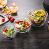 Salad Round Ice Cream Crystal Big Wholesale Glass Bowl