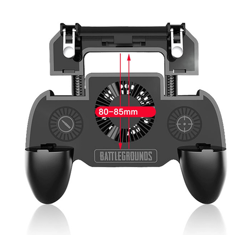 SR 4000mAh built in battery New design joystick game controller joystick handle for PUBG L1Rl grip, Black