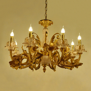 Beautiful 8 Lights Brass Chandelier for Living Room TD-0932-8
