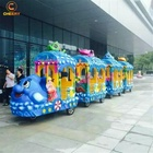 Square Amusement carnival games kids ride Ocean model electric trackless train toy for shopping mall