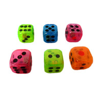 Custom plastic kids playing game toy dice for party