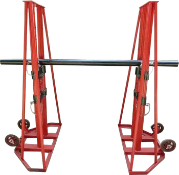 Good price and high quality wire cable adjustable reel stands with hydraulic jacks drum jack