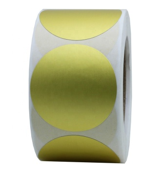 "Hybsk Gold Labels 1.5"" Round Color Coding Dots Stickers Adhesive Label 400 Per Roll (1 Roll)"