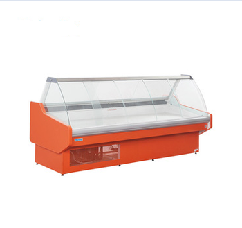 Front open commercial deli display service case meat refrigerator supermarket SSG-N intergrated
