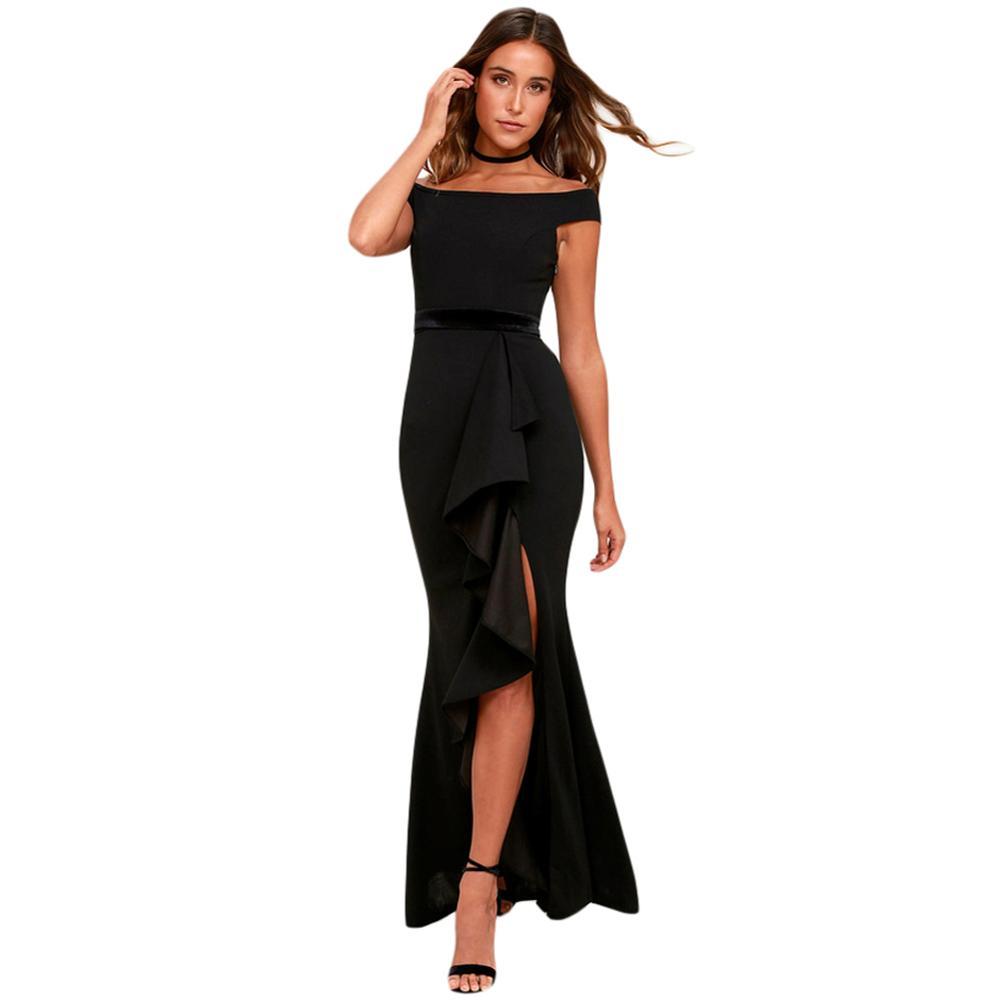 e7d8f99861bb1 Balo salonu Bağlı Kapalı Omuz yaz giysileri Kadınlar Için Trendy Elbise  Kadın rahat elbise
