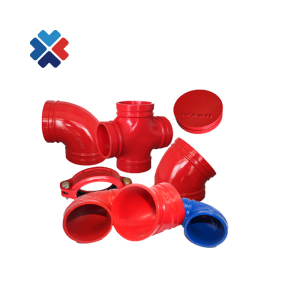 DI cast iron grooved pipe fittings FM approved for fire fighting system