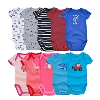Newborn Infant Toddler Clothing High Quality 100% Cotton Short Sleeve Thick Baby Rompers