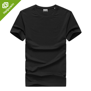 Latest promotion price mens black blank cotton t-shirt sport