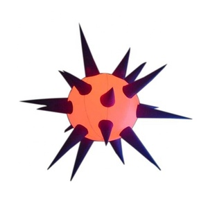 RGB LED Light Inflatable star balloon /Inflatable spiky ball /Inflatable hanging star led balloon for event