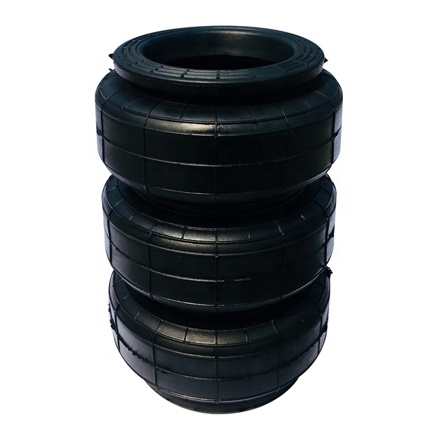 Triple convoluted car air bag spring <strong>kits</strong> 3S2300 diameter 125mm without plate rubber only with soft steel rings