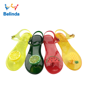 Comfortable Summer Lady Plastic Fruit Sandals Wholesale Woman Jelly Shoes