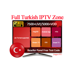 IPTV Subscription Turkey Arabic Europe French Germany Turkey Live TV Code  Iptv 5000 Channels 7400 VOD 1 Year SUBTV IPTV