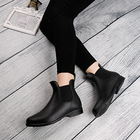 Wholesale Classic Fashion Chelsea Style Waterproof Ankle Rain Boots for Women and Ladies