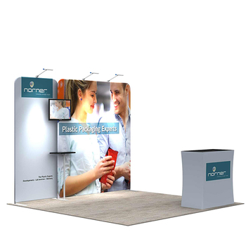 Aluminum Easy Tube 10x10 modular Custom Trade Show Portable 3x3 Size Exhibition Booth
