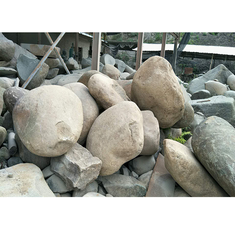 Landscaping Round Large River Rock