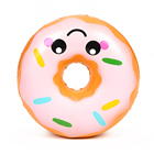 China Supplier Simulation Food Toy Squishy Scented Slow Rising Kawaii Smiley Donut Squishy toys for all ages