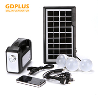 Good quality GDPLUS new GD-7 classic solar system kit with solar panel