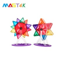 MAGT4K 65 PCS Creative Toys Christmas Day Gift Children Connection Set Magnetic Tiles