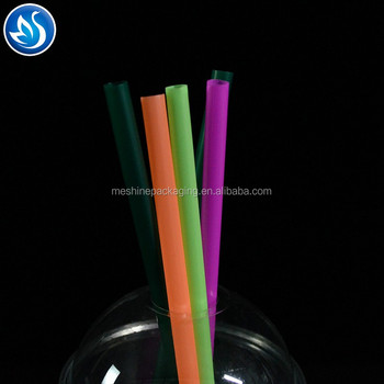 huangzhou wholesale Straight colorful Sharp Plastic straws for Bubble tea