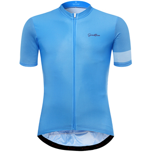 Geeklion Pro Team Ropa Ciclismo Quick Dry Sport Jersey Blue Short Sleeve Slim Fit Cycling Jersey