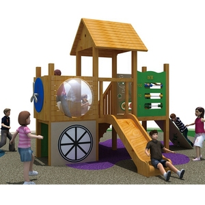 Best quality children happy play equipment set small wooden outdoor playgrounds for sale