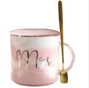 Mr Mrs Marble Ceramic Coffee Mug Anniversary Wedding Valentines Gift Ceramic Mug With Lid