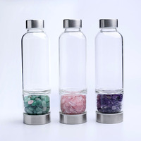 Natural Gemstone Crystal Infused Energy Water Bottle