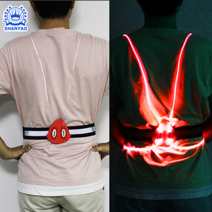 Revolutionary LED Illuminated & Reflective Vest for Running or Cycling with Multicolored LED Fiber Optics Adjustable