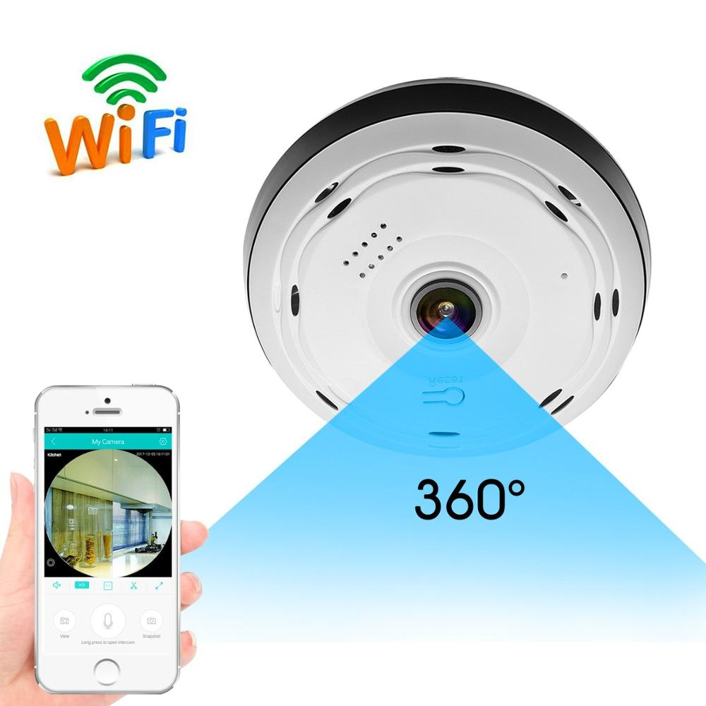 Ronavis P2P afstandsbediening HD 2MP Wifi infrarood fisheye 720 p smart ip camera geheime camera mini nanny camera