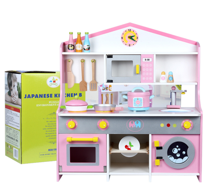 Pretend Play Kitchen Home Cooking Table