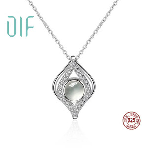 DLF Silver 925 Love Memory Pendent Necklace With 100 Different Languages Custom Jewelry