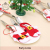 Festival Cute Knife And Fork Sleeve Christmas Tree Ornaments Mini Cloth Pant Tableware Cover