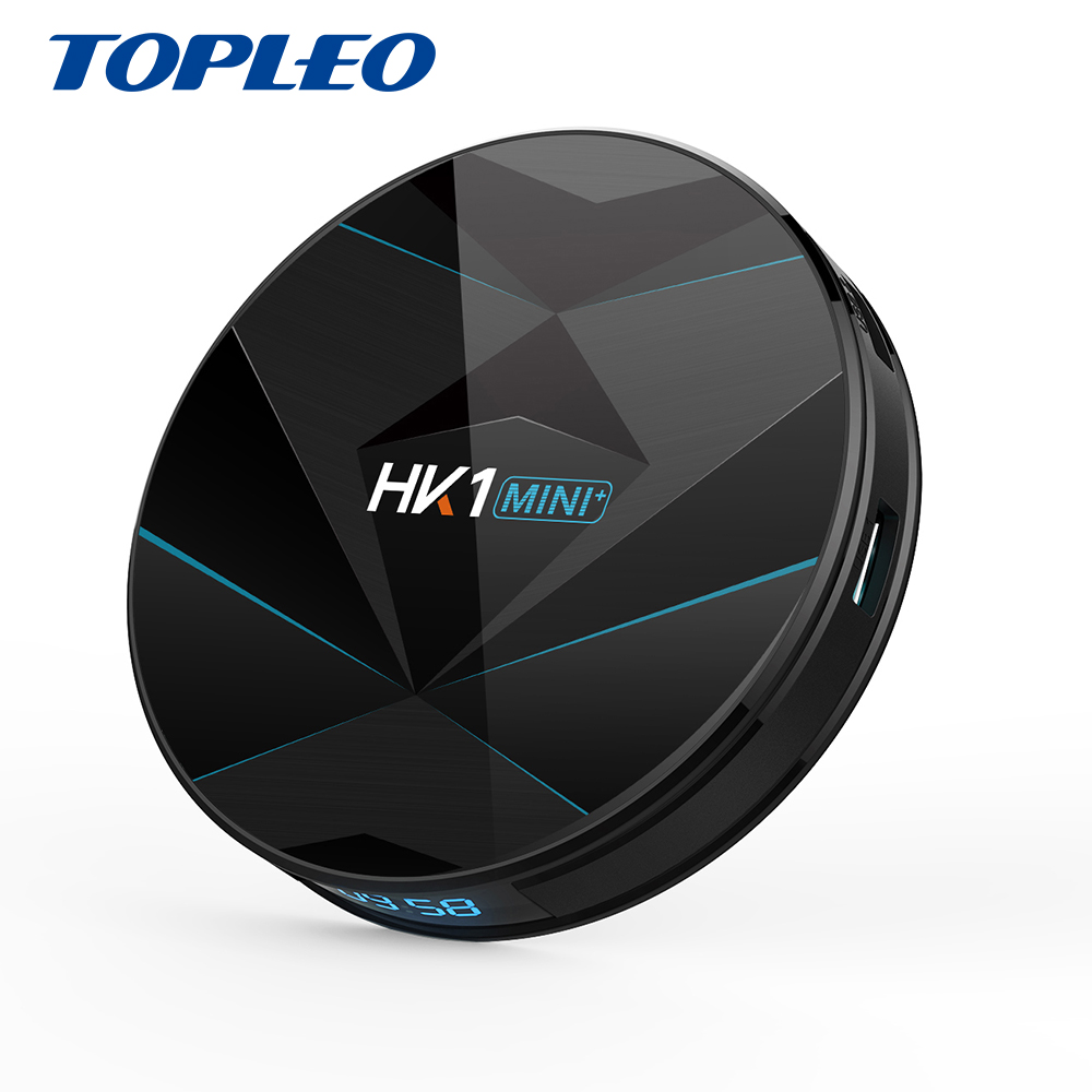 Topleo bien diseñado HK1 MINI + última CPU Rockchip RK3318 4 k ultra hd media player android 9,0 smart tv caja
