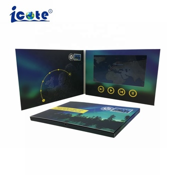 Digital Video packing ,Video Presentation Gift Box With Lcd Screen