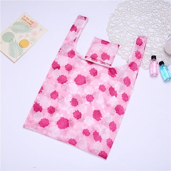 190T Polyester Eco-bags Prints Foldable Shopping Bags