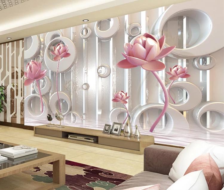 3d Lotus Silk Wallpaper For Spa Decoration 3d Wall Papers Home Decor Wallpaper Buy 3d Lotus Wallpaper For Spalotus Silk 3d Wall Papers Home