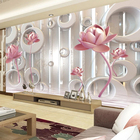 3D lotus silk wallpaper for spa decoration 3d wall papers home decor wallpaper