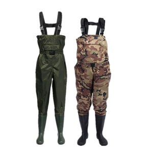 Men And Women Camo Waterproof Nylon PVC Waist Pants Hunting Rubber Boots Fishermen Fly Plus Size Chest Waders Fishing
