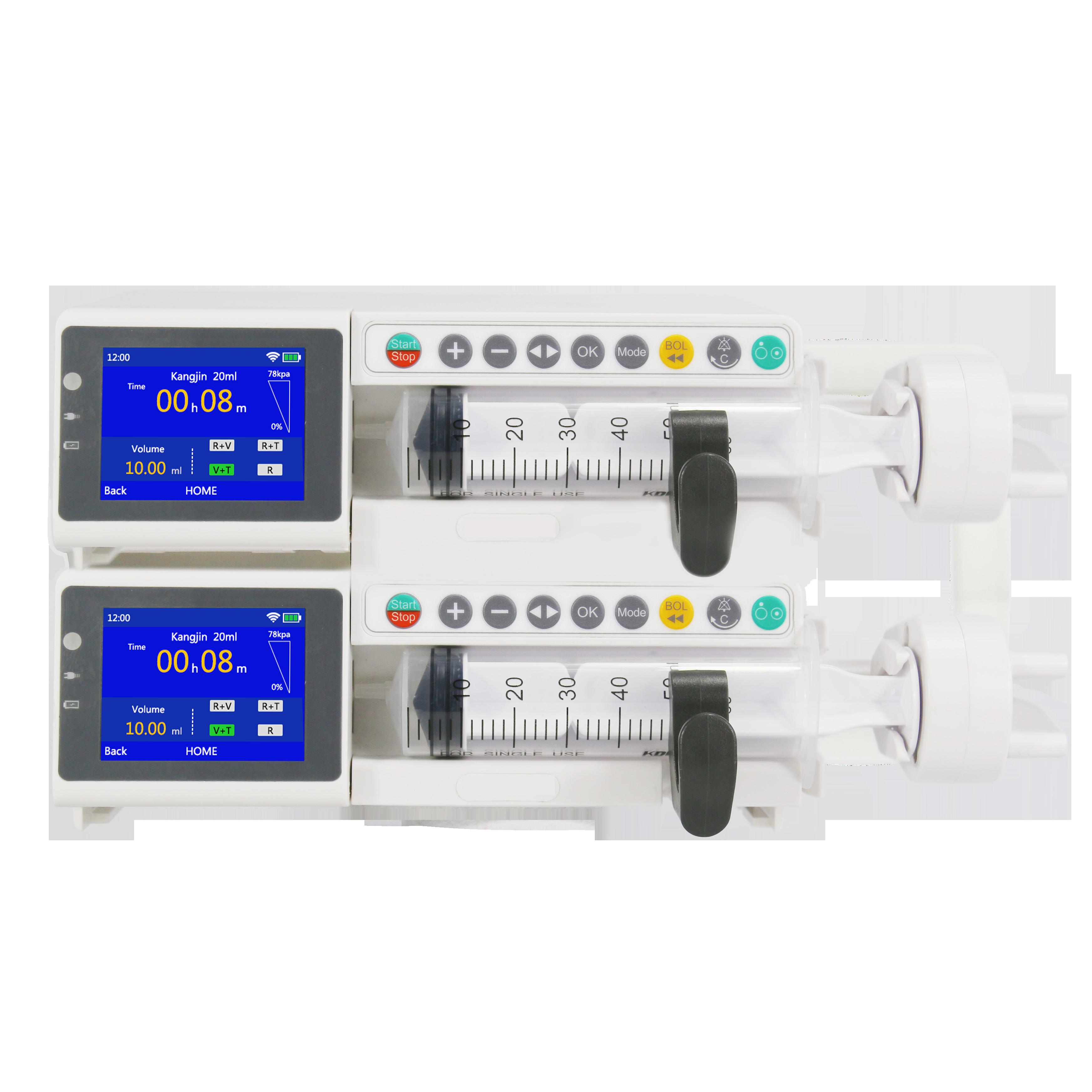 약물 및 터치 스크린 듀얼 채널 ICU 주입 주사기 펌프