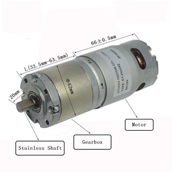 60rpm 10Nm high torque 12v dc gear motor 45mm