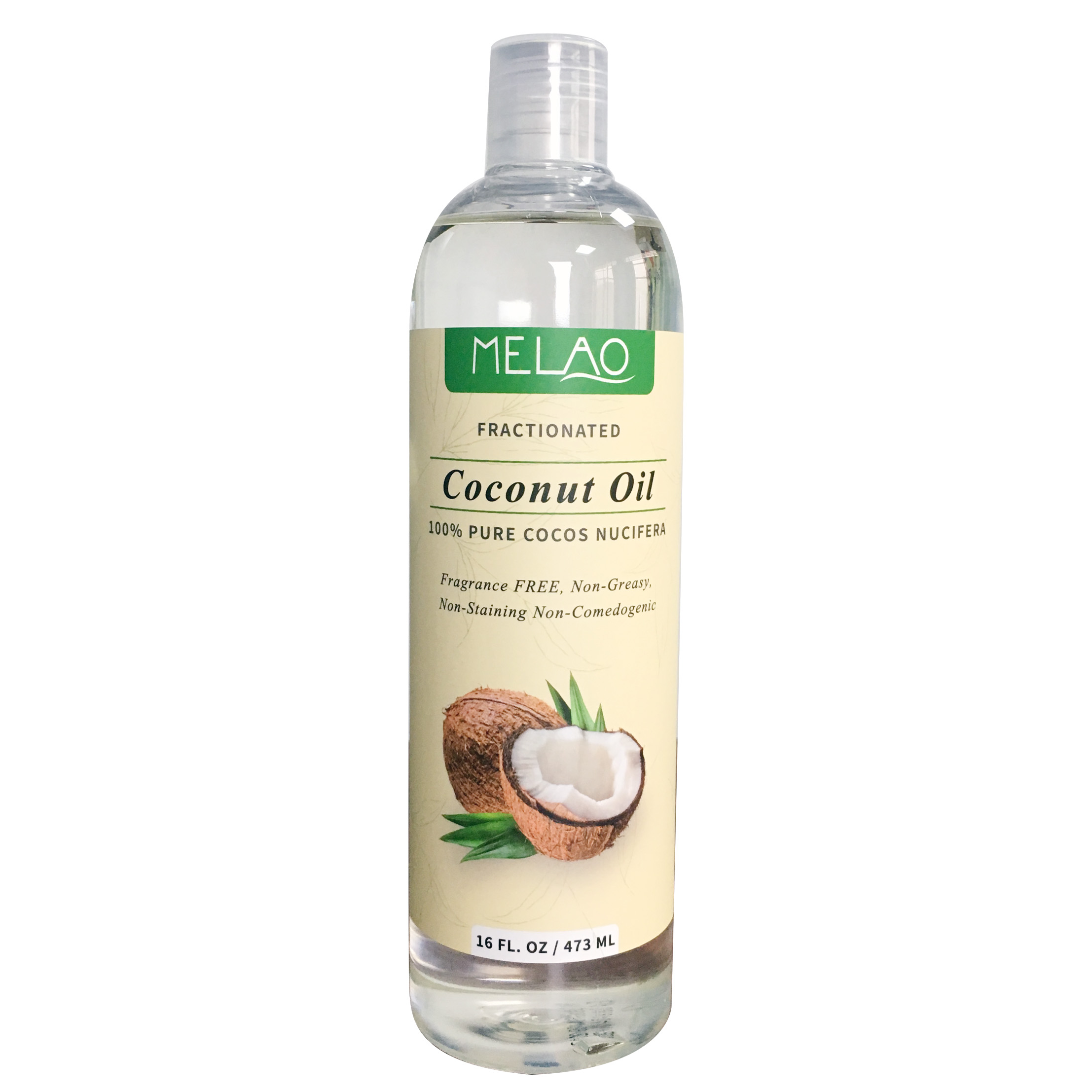 473 Ml Melao Grosir Private Label Cair 100% Alami Organik Press Extra Virgin Coconut Oil