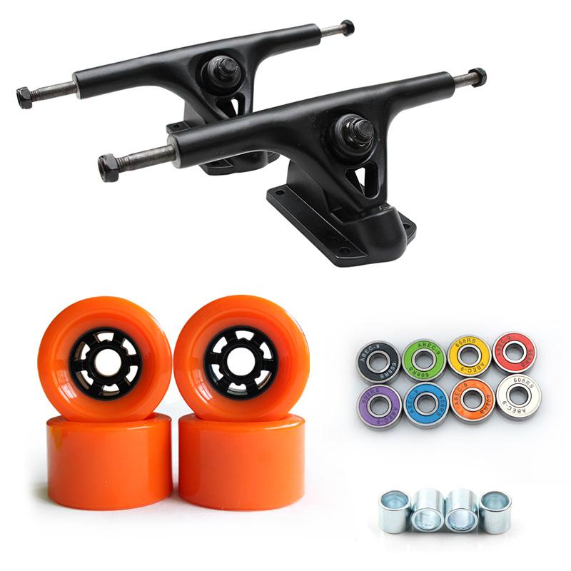 High Quality 8 inch Custom Longboard Trucks with 90*52 mm Skateboard Wheels