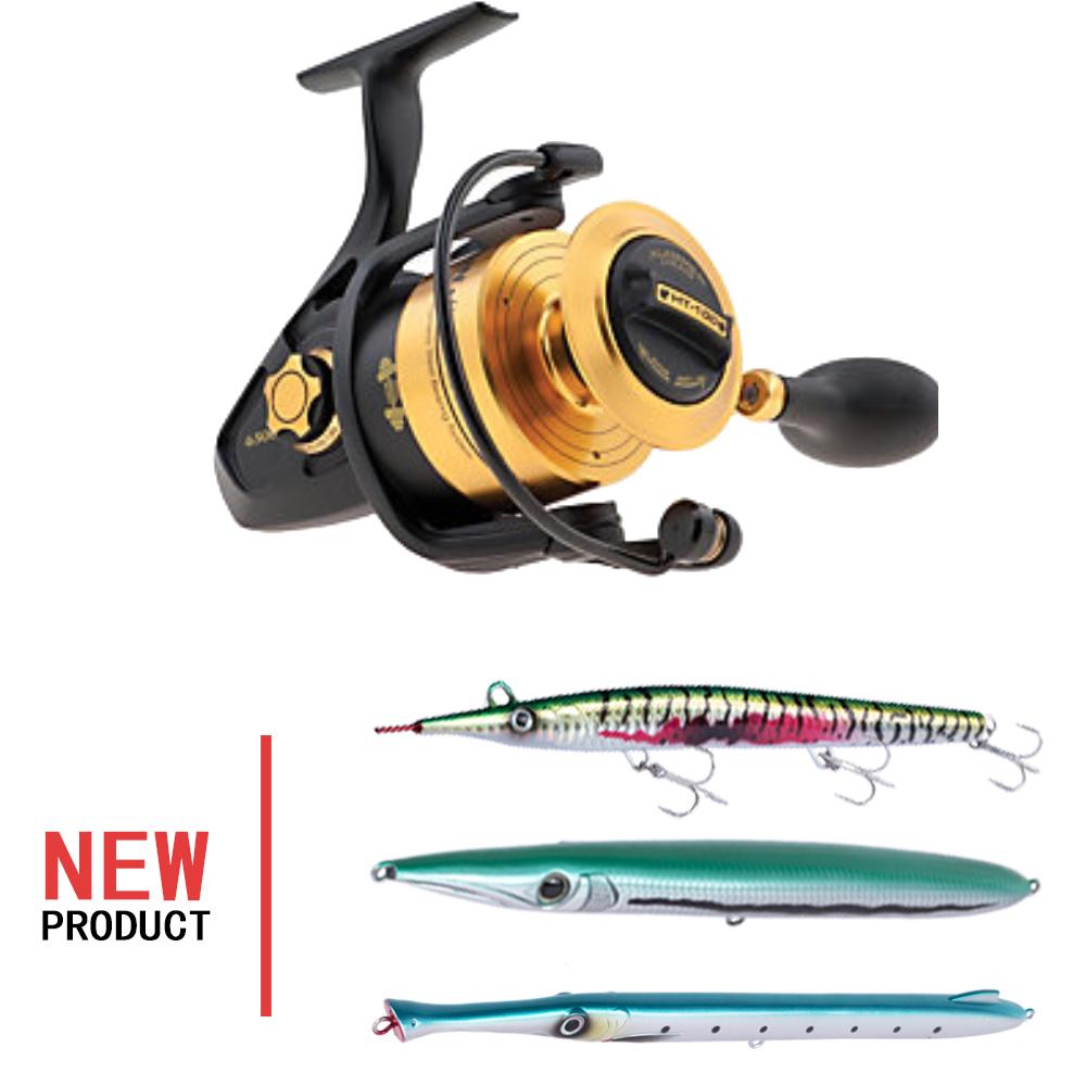 fishing penn reels spinfisher V bait spinning reel for double hand, Golden