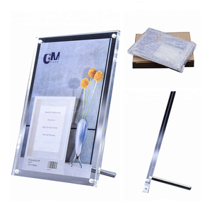 Double Layer Clear A3 Acrylic Photo Frame with Stand