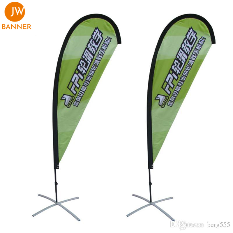 Wholesale outdoor display custom personalized feather teardrop flags