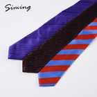 Red Neckties New Design Hot Sale Fashionable Trendy Microfiber Woven and Blue Striped Traditional